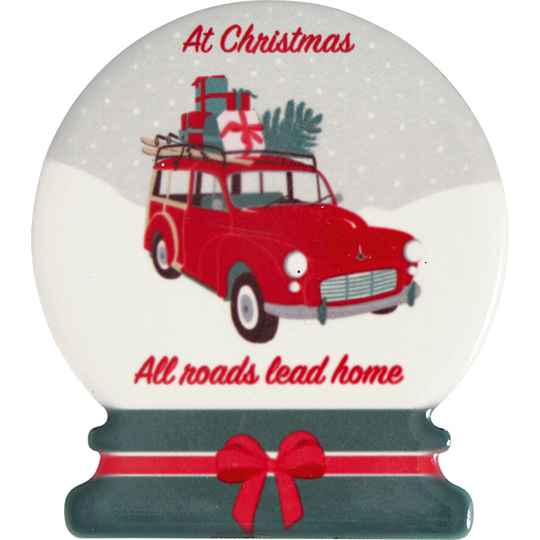 GreenGate  Magnet Christmas car red set of 4   CERMAGCMC1006