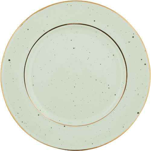 GreenGate Plate Pale Green with Gold