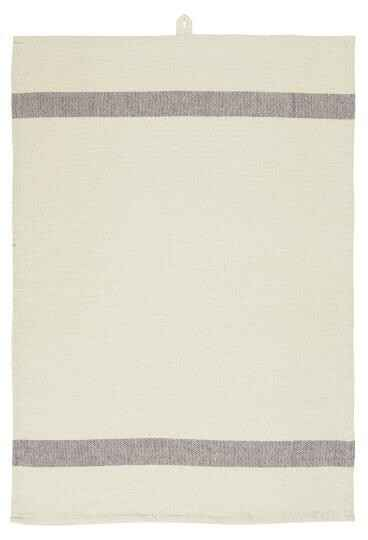 IB-Laursen Tea towel natural w/lavender stripes in each end  66003-66