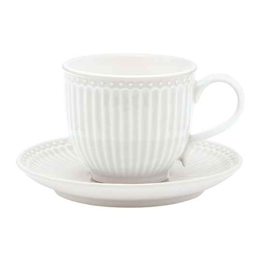 GreenGate Cup & Saucer Alice White