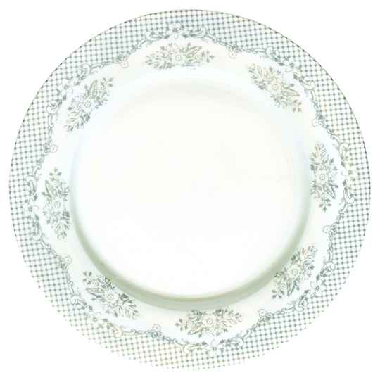 GreenGate Dinner Plate - Stephanie Warm Grey 25 cm