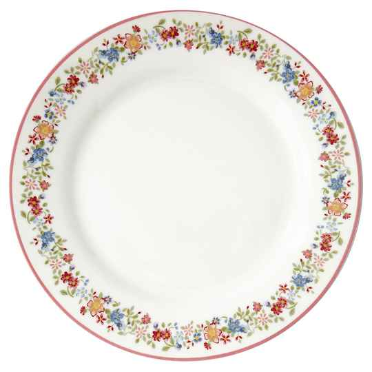 GreenGate  Plate Clementine white   20,5 cm  STWPLACLM0106