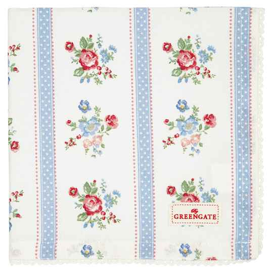 GreenGate Napkin with lace Evie white    COTNAPWLEVI0108
