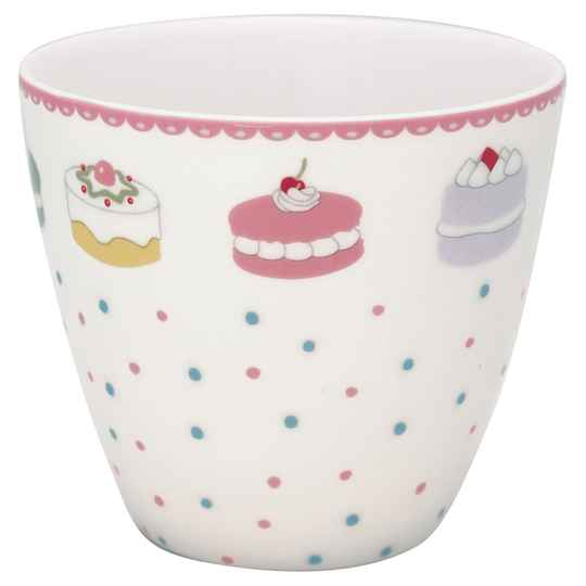 GreenGate Latte cup Madelyn white  STWLATMDL0106