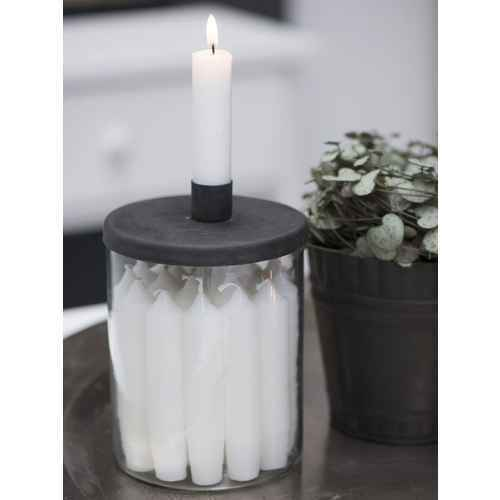 Ib Laursen X-Mas Calendar Candles 1-24 with Black Numbers (Candleholder not included)4142-11