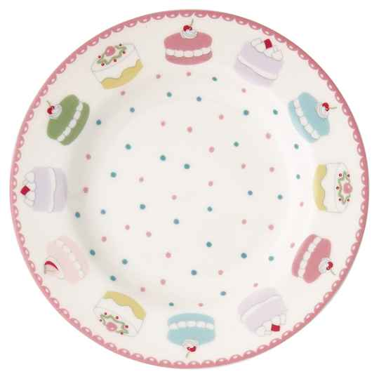 GreenGate  Small plate Madelyn white   15 cm STWSMAMDL0106