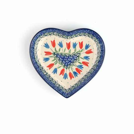 Bunzlau Castle  Dish Heart Medium Tulip Royal 1959-2599