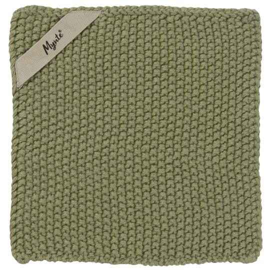 IB-Laursen Pot holder Mynte olive knitted  6350-29