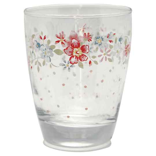 GreenGate  Glass Water Clementine white    GLAWATCLM0112