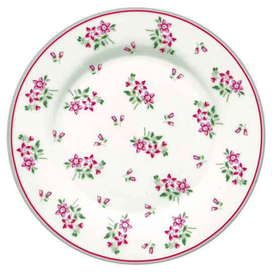 GreenGate Plate Avery White