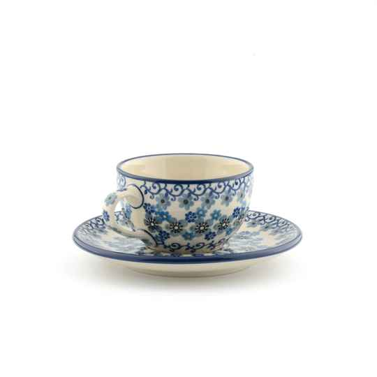 Bunzlau Castle Cup and Saucer 200 ml Winter Garden 1767-2084