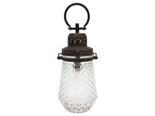 GreenGate Lamp Cross Clear with Handle