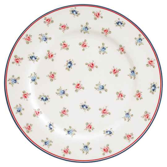 GreenGate Dinner Plate Hailey White 25 cm