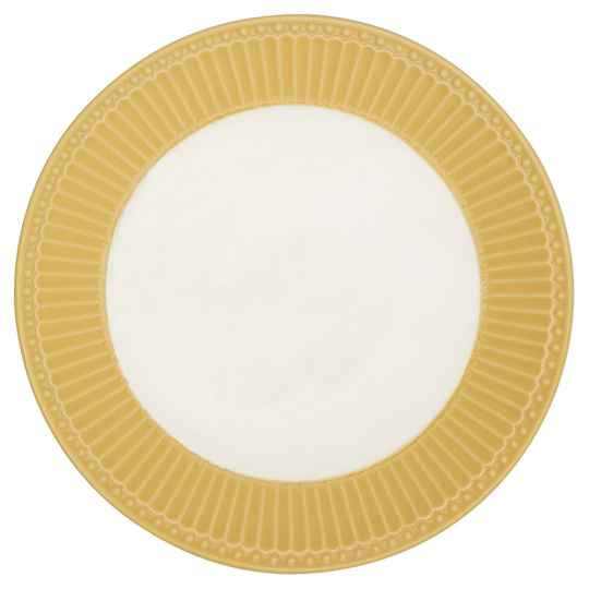 GreenGate  Plate Alice honey mustard 17,5 cm  STWPLAAALI4006