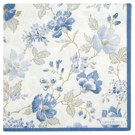 GreenGate  Napkin Donna blue large 20pcs   PAPNAPLDON2512