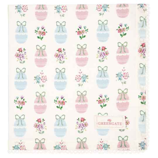 GreenGate Napkin with lace Elsie white    COTNAPWLESI0108