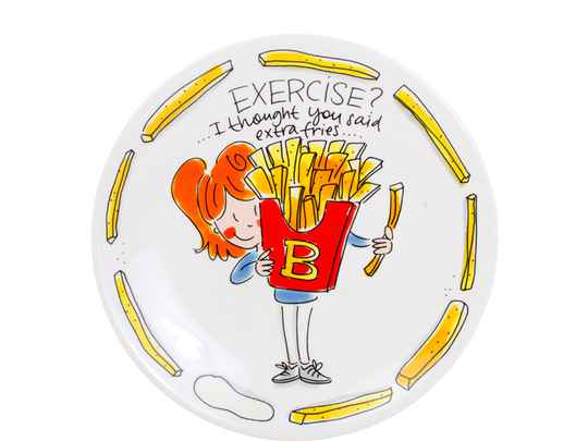 Blond Amsterdam SNACK PLATE 22 CM EXERCISE  200564