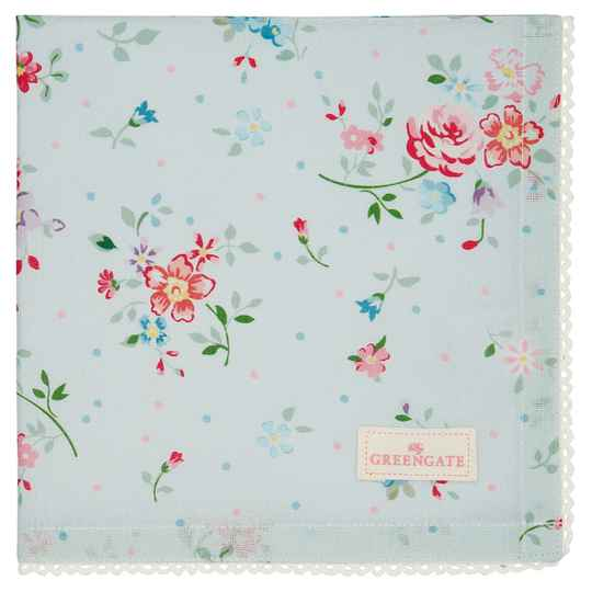 GreenGate Napkin with lace Belle pale blue    COTNAPWLBLL2908