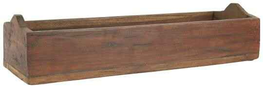 Ib-Laursen Wooden box oblong w/curved end pieces UNIKA  23036-00