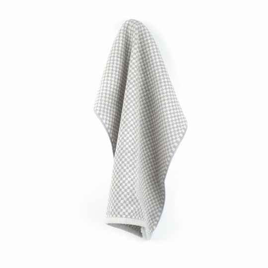 Bunzlau Castle  Kitchen Towel Small Check Grey  3803
