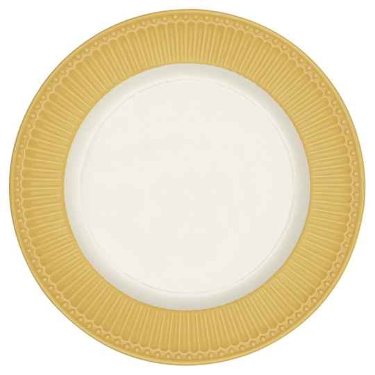 GreenGate  Dinner plate Alice honey mustard 27 cm  STWDINAALI4006