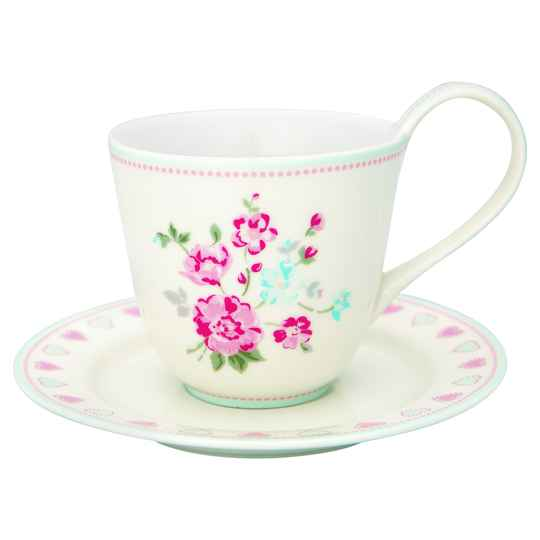 GreenGate Cup & Saucer Sonia White