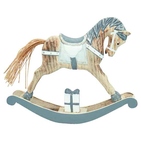 GreenGate Decoration Rocking Horse Grey Large