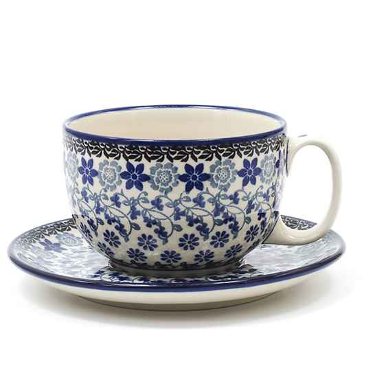 Bunzlau Castle  Cup and Saucer 440 ml Belle Fleur   1769-1829