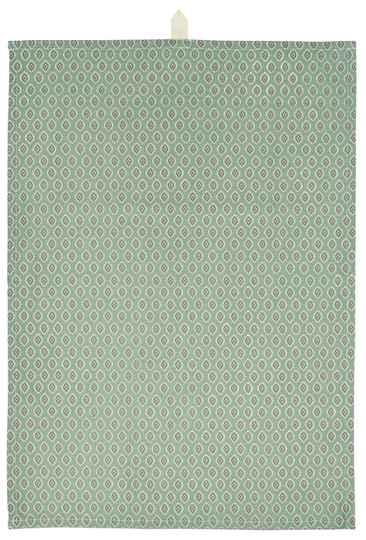 IB-Laursen  Tea towel dusty green w/berry and natural pattern  66028-81
