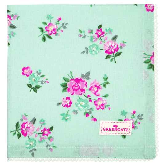 GreenGate Cloth Napkin with Lace Sonia Pale Blue
