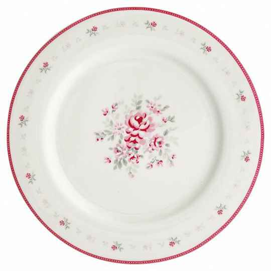 GreenGate Dinner Plate Flora White 25 cm