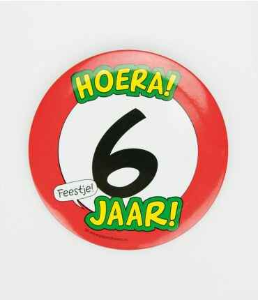6 Jaar - button XL
