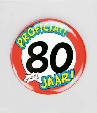 80 Jaar - button XL
