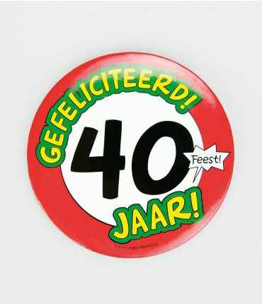40 Jaar - button XL