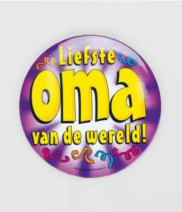 Liefste oma - button XL