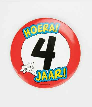 4 Jaar - button XL