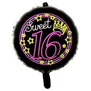 Sweet 16 - folieballon neon