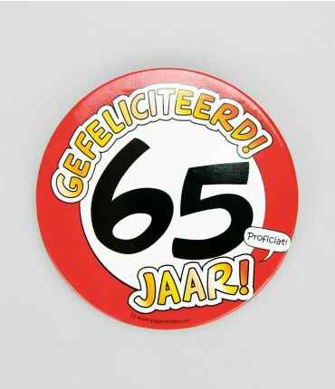 65 Jaar - button XL