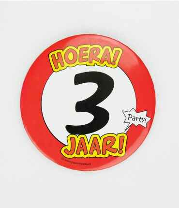3 Jaar - button XL