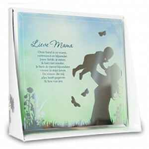 Lieve mama - silver silhouette