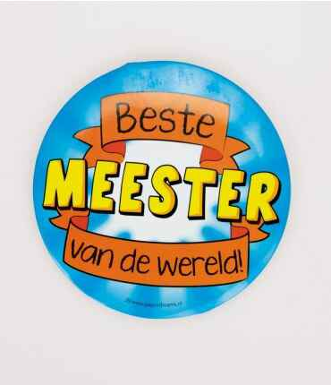 Meester - button XL