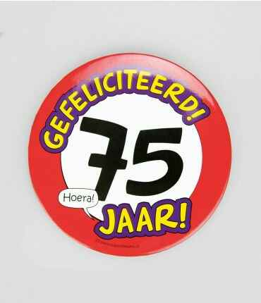 75 Jaar - button XL