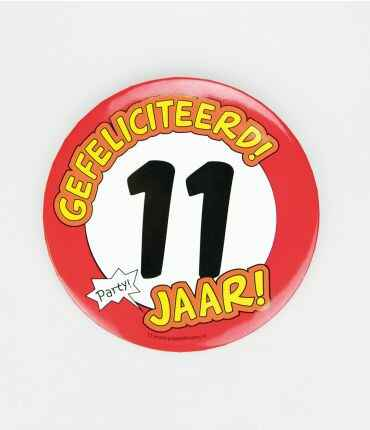 11 Jaar - button XL