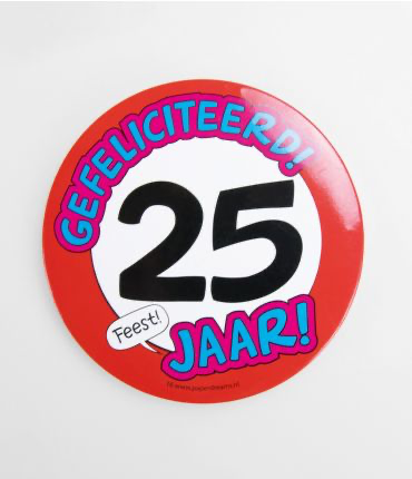 25 Jaar - button XL