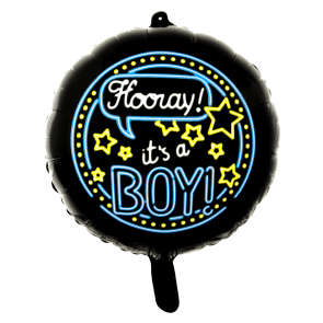 It's a boy - folieballon neon