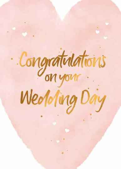 Congratulations on your wedding day - wenskaart