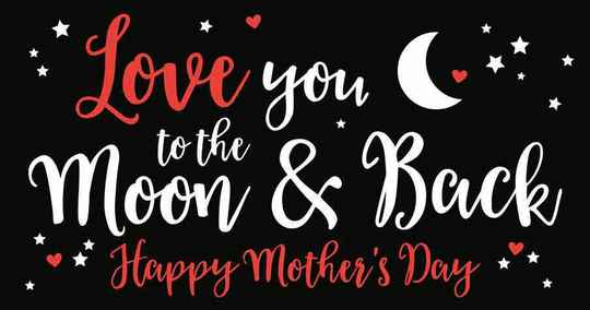 Love you to the moon & back  happy mother's day - wenskaart