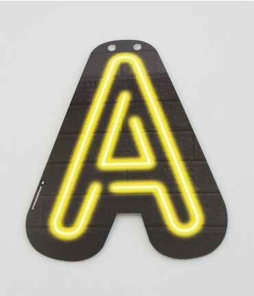 A - letter neon