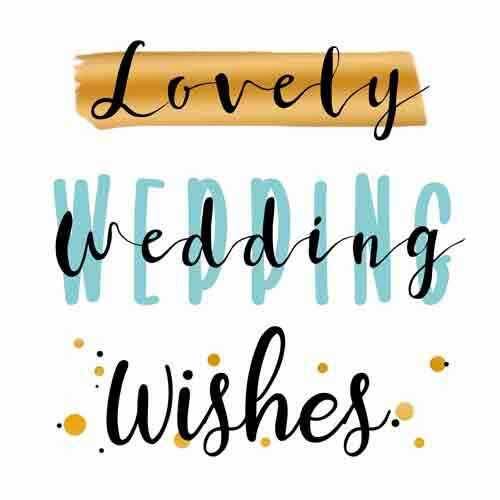 Lovely wedding wishes - wenskaart