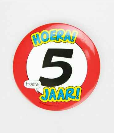 5 Jaar - button XL